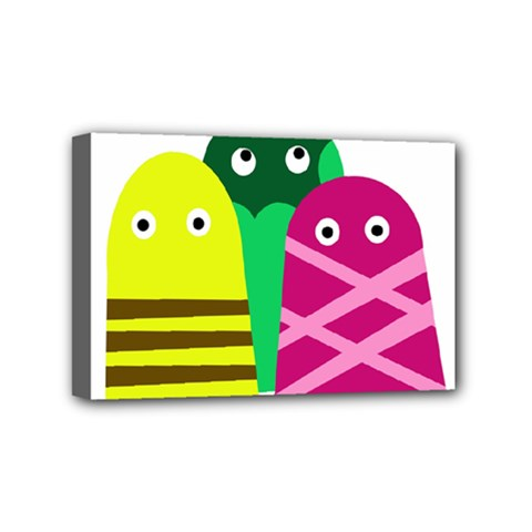 Three Mosters Mini Canvas 6  X 4  by Valentinaart