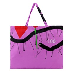 Centipedes Zipper Large Tote Bag by Valentinaart