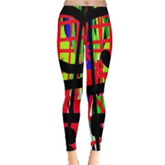 Colorful Abstraction Leggings  by Valentinaart