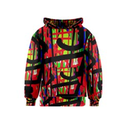 Colorful Abstraction Kids  Pullover Hoodie by Valentinaart
