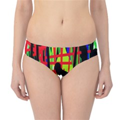 Colorful Abstraction Hipster Bikini Bottoms by Valentinaart