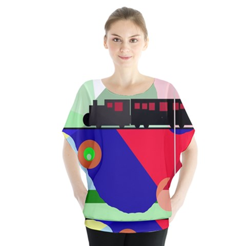 Abstract Train Blouse by Valentinaart