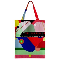 Abstract Train Zipper Classic Tote Bag by Valentinaart