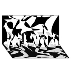 Black And White Elegant Pattern #1 Mom 3d Greeting Cards (8x4) by Valentinaart