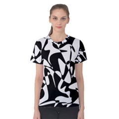 Black And White Elegant Pattern Women s Cotton Tee by Valentinaart