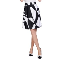 Black And White Elegant Pattern A Line Skirt by Valentinaart