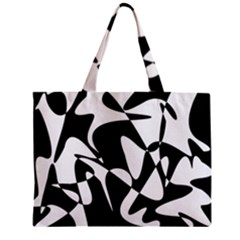 Black And White Elegant Pattern Zipper Mini Tote Bag by Valentinaart