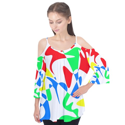 Colorful Abstraction Flutter Tees by Valentinaart
