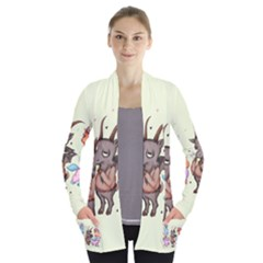 Evil Is Magic Women s Open Front Pockets Cardigan(p194)