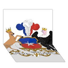Coat Of Arms Of Chile  Heart Bottom 3d Greeting Card (7x5) by abbeyz71