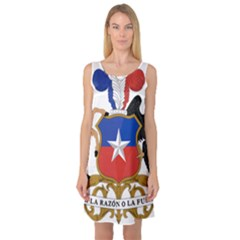 Coat Of Arms Of Chile  Sleeveless Satin Nightdress