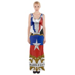 Coat Of Arms Of Chile  Maxi Thigh Split Dress