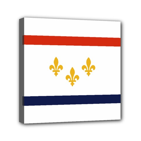 Flag Of New Orleans  Mini Canvas 6  X 6