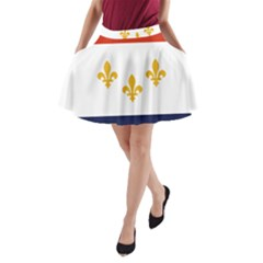 Flag Of New Orleans  A Line Pocket Skirt by abbeyz71