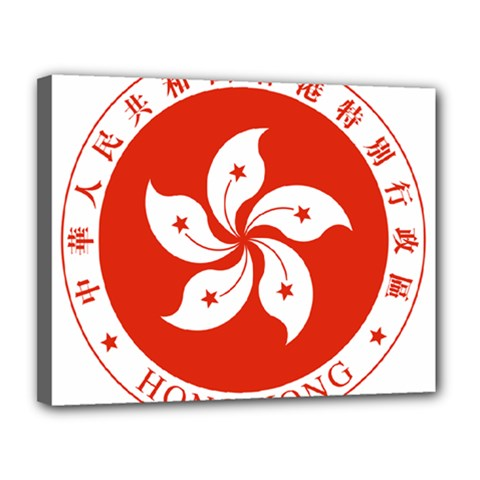 Emblem Of Hong Kong  Canvas 14  X 11  by abbeyz71