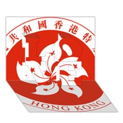 Emblem Of Hong Kong  Love 3d Greeting Card (7x5) by abbeyz71