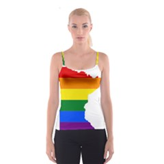 Lgbt Flag Map Of Minnesota  Spaghetti Strap Top