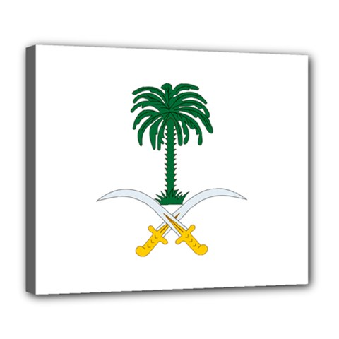 Emblem Of Saudi Arabia  Deluxe Canvas 24  X 20   by abbeyz71
