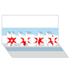 Flag Of Chicago #1 Dad 3d Greeting Card (8x4) by abbeyz71