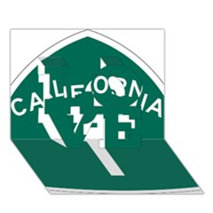 California 1 State Highway   Pch Love 3d Greeting Card (7x5) by abbeyz71