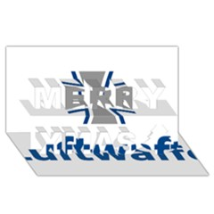Luftwaffe Merry Xmas 3d Greeting Card (8x4) by abbeyz71