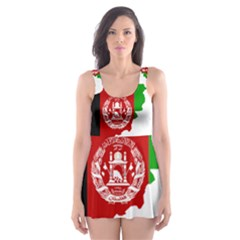 Flag Map Of Afghanistan Skater Dress Swimsuit