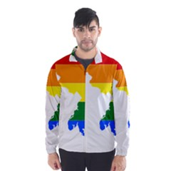Lgbt Flag Map Of Maryland  Wind Breaker (men)