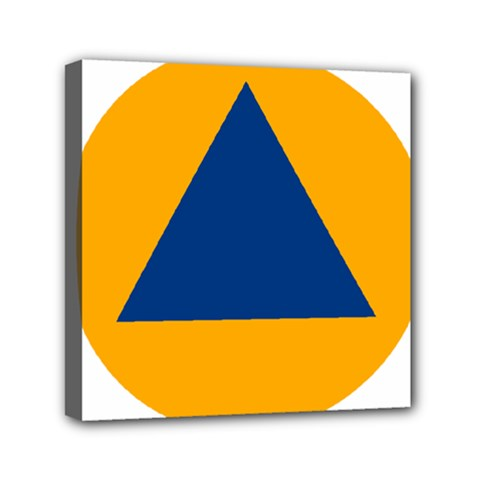 International Sign Of Civil Defense Roundel Mini Canvas 6  X 6  by abbeyz71