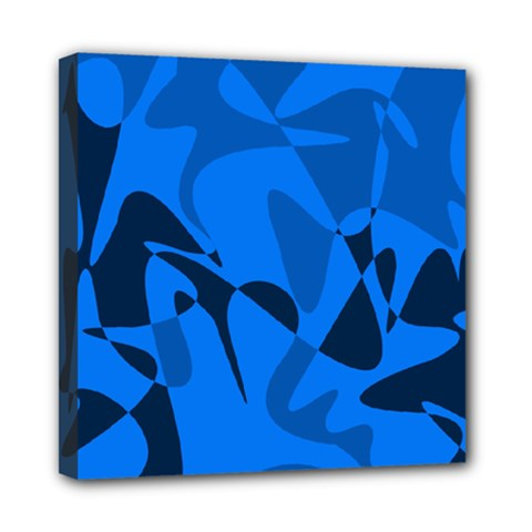 Blue Pattern Mini Canvas 8  X 8  by Valentinaart