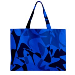 Blue Pattern Mini Tote Bag by Valentinaart