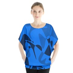 Blue Pattern Blouse by Valentinaart