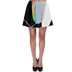 Colorful Abstraction Skater Skirt by Valentinaart