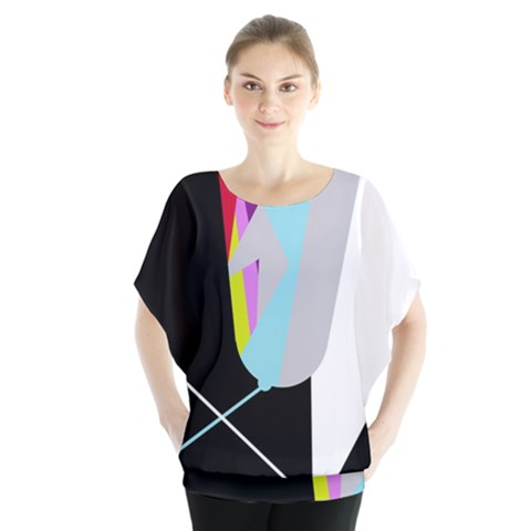 Colorful Abstraction Blouse by Valentinaart