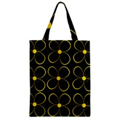 Yellow Flowers Zipper Classic Tote Bag by Valentinaart