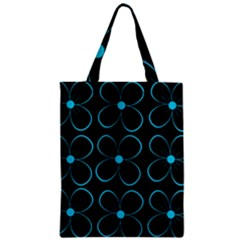 Blue Flowers Zipper Classic Tote Bag by Valentinaart