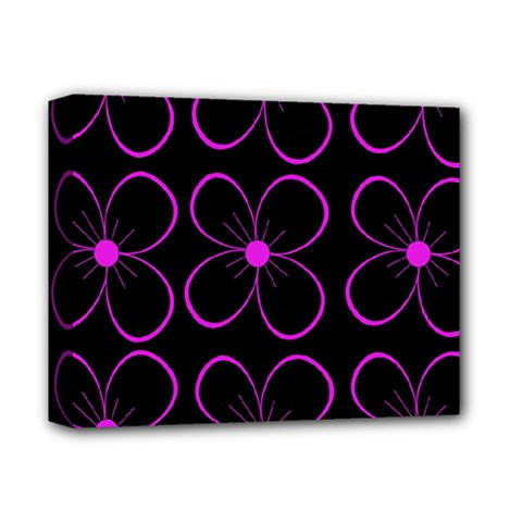 Purple Floral Pattern Deluxe Canvas 14  X 11  by Valentinaart