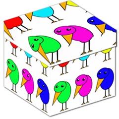 Colorful Birds Storage Stool 12   by Valentinaart