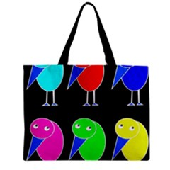 Colorful Birds Zipper Mini Tote Bag by Valentinaart