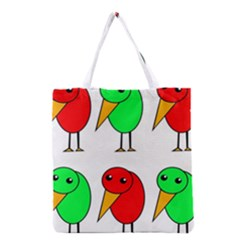 Green And Red Birds Grocery Tote Bag by Valentinaart
