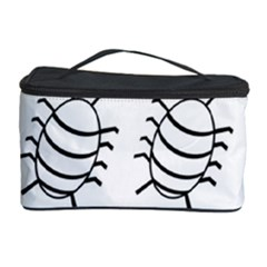 White Bug Pattern Cosmetic Storage Case by Valentinaart