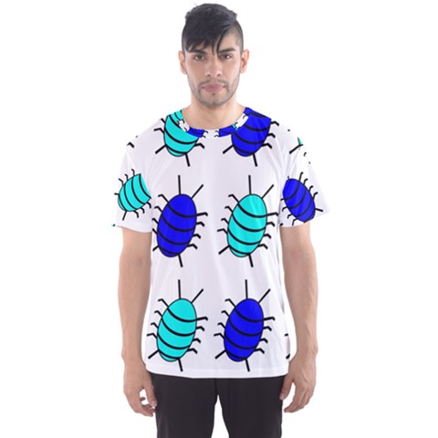 Blue Bugs Men s Sport Mesh Tee by Valentinaart