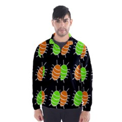 Green And Orange Bug Pattern Wind Breaker (men)