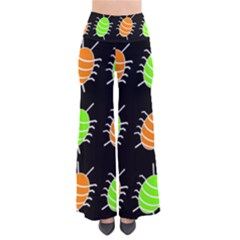 Green And Orange Bug Pattern Pants by Valentinaart