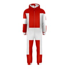 National Flag Of Switzerland Hooded Jumpsuit (kids)