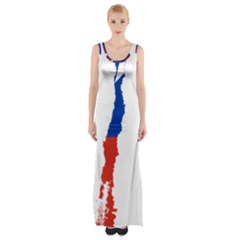 Flag Map Of Chile  Maxi Thigh Split Dress