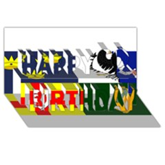 Four Provinces Flag Of Ireland Happy Birthday 3d Greeting Card (8x4)