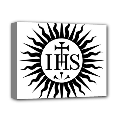 Society Of Jesus Logo (jesuits) Deluxe Canvas 14  X 11  by abbeyz71