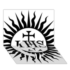 Society Of Jesus Logo (jesuits) Circle Bottom 3d Greeting Card (7x5) by abbeyz71