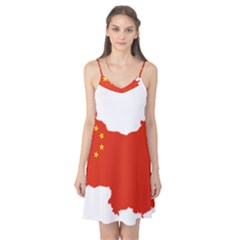Flag Map Of China Camis Nightgown