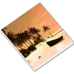 Wonderful Sunset Over The Beach, Tropcal Island Small Memo Pads by FantasyWorld7